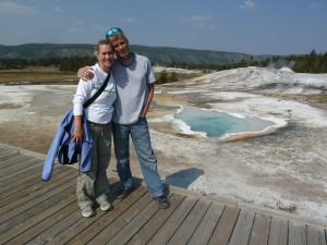 "On the walk through the geysers near ""Old Faithful"""