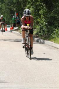 Dana on her bike!
