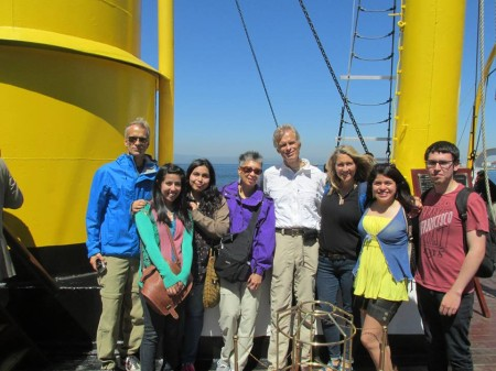 With (R to L): Bob, Camila, Soledad, Leiko, Bill, mio, Conny, & German. Thank you all for teaching us about the Huascar and for spending the day with us!!