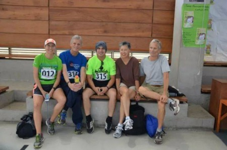 With our new friend Hanss before the trail run.