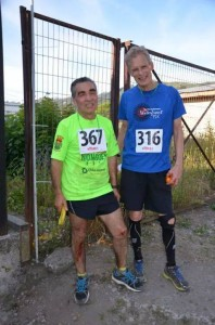 """Bill with his prime """"competition"""" after the crazy 20K trail race."""