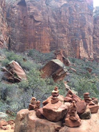 The red rocks of Zion