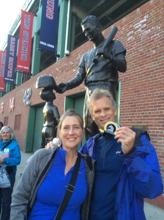 Bill and me at Fenway Park after the race