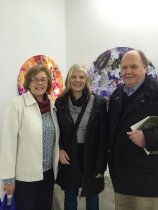 With Cecilia and her friend, artists, Marcela Krause