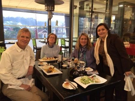 From L to R: Bill, Cecilia, moi, Maria Edith